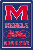 "COLLEGIATE Mississippi 12""x18"" Metal Sign"