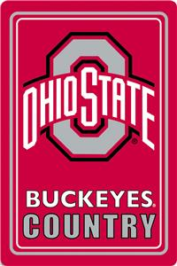 "COLLEGIATE Ohio State 12""x18"" Metal Sign"