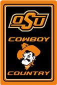 "COLLEGIATE Oklahoma State 12""x18"" Metal Sign"