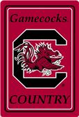 "COLLEGIATE South Carolina 12""x18"" Metal Sign"