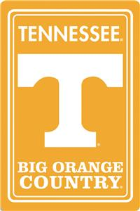 "COLLEGIATE Tennessee 12""x18"" Metal Sign"