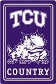 "COLLEGIATE Texas Christian 12""x18"" Metal Sign"