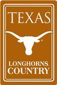"""COLLEGIATE Texas 12""""x18"""" Metal Sign"""