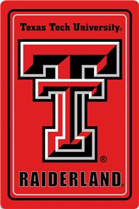 "COLLEGIATE Texas Tech 12""x18"" Metal Sign"