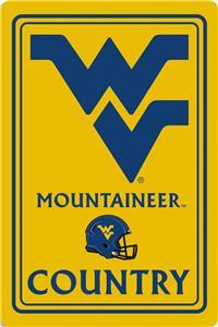 """COLLEGIATE West Virginia 12""""x18"""" Metal Sign"""
