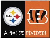 Fan Mats NFL Steelers/Bengals House Divided Mat