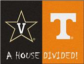 Fan Mats Vanderbilt/Tennessee House Divided Mat