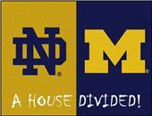 Fan Mats Notre Dame/Michigan House Divided Mat