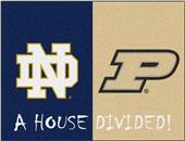 Fan Mats Notre Dame/Purdue House Divided Mat