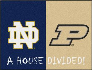 Fan Mats Notre Dame/Purdue House Divided Mat