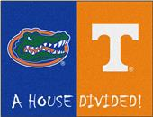 Fan Mats Florida/Tennessee House Divided Mat