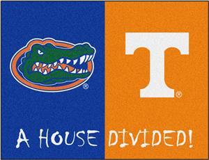 Fan Mats Florida/Tennessee House Divided Mat