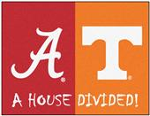 Fan Mats Alabama/Tennessee House Divided Mat