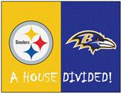 Fan Mats NFL Steelers/Ravens House Divided Mat