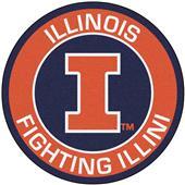 Fan Mats University of Illinois Roundel Mat