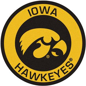 Fan Mats University of Iowa Roundel Mat