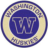Fan Mats NCAA University of Washington Roundel Mat