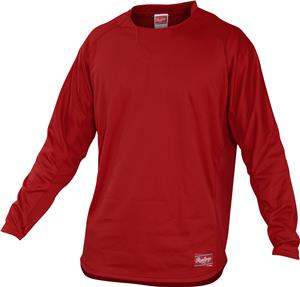 Rawlings Dugout Long Sleeve Fleece Pullover