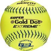 "Worth GSL Gold Dot Extreme 12"" Slowpitch Softballs"