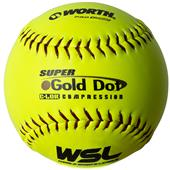 "Worth WSL Super Gold Dot 12"" Slowpitch Softballs"