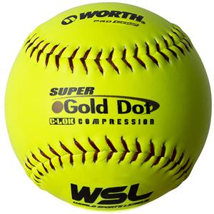 "Worth WSL Super Gold Dot 12"" Slowpitch Softballs"