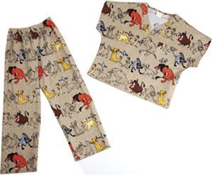 Tooniforms Kids Lion King Conga Line Scrub Set