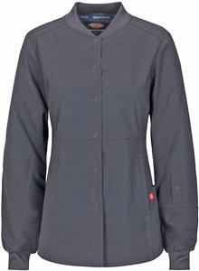 Dickies Women's Snap Front Warm-Up Scrub Jackets