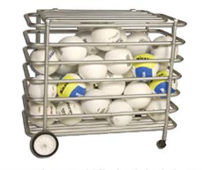 Tandem Sport Locking Ball Cage Equipment Cart