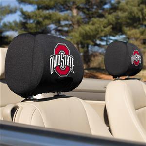 Collegiate Ohio State Headrest Covers Set of 2
