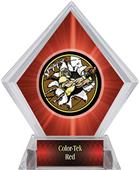 Awards Bust-Out Football Red Diamond Ice Trophy