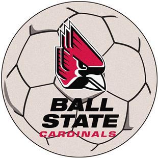 Fan Mats Ball State University Soccer Ball Mat