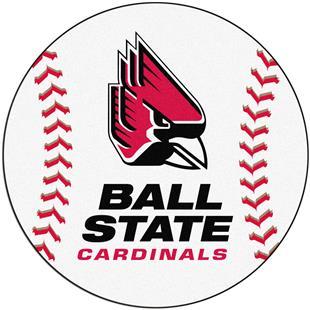 Fan Mats Ball State University Baseball Mat