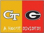 Fan Mats Georgia Tech/Georgia House Divided Mat