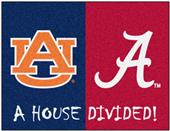 Fan Mats Alabama/Auburn House Divided Mat