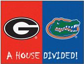 Fan Mats Georgia/Florida House Divided Mat