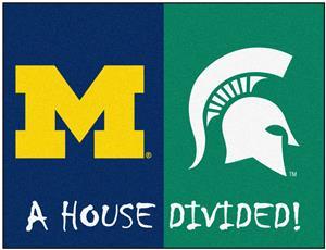 Fan Mats Michigan/Michigan State House Divided Mat
