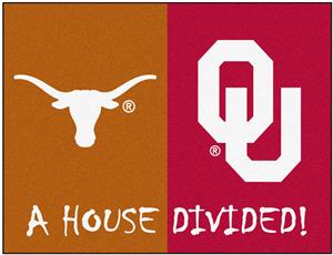 Fan Mats Texas/Oklahoma House Divided Mat