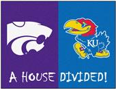 Fan Mats Kansas/Kansas State House Divided Mat