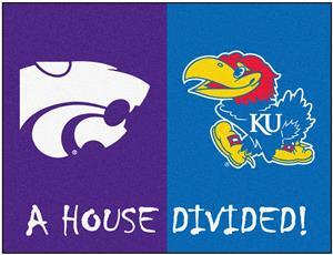 Fan Mats Kansas/Kansas State House Divided Mat