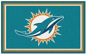 Fan Mats NFL Miami Dolphins 4x6 Rug