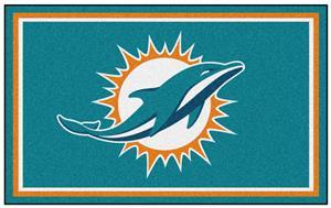 Fan Mats NFL Miami Dolphins 4x6 Rug
