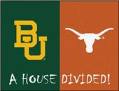 Fan Mats Baylor/Texas House Divided Mat