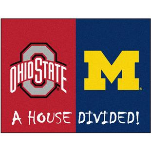 Fan Mats Ohio State/Michigan House Divided Mat