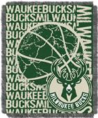 NBA Milwaukee Bucks Double Play Woven Throw