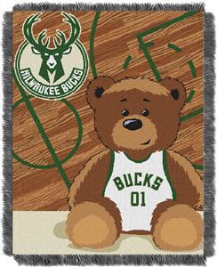 Northwest NBA Milwaukee Bucks Baby Jacquard Throw