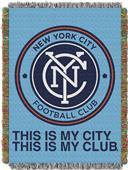 Northwest MLS NY City FC Handmade Tapestry Throw