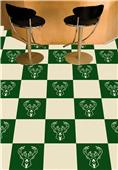 Fan Mats NBA Milwaukee Bucks Team Carpet Tiles