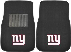 Fan Mats NFL Giants Embroidered Car Mats (set)