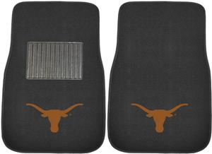 Fan Mats Univ Texas Embroidered Car Mats (set)