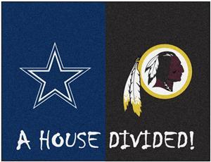 Fan Mats NFL Cowboys/Redskins House Divided Mat